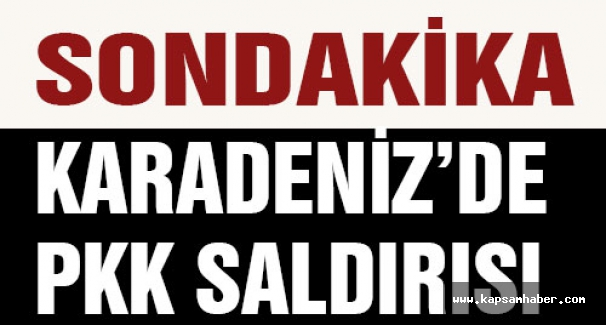 Karadeniz'de PKK Saldırısı