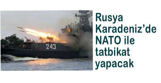 Karadeniz'de Rusya-NATO Tatbikatı