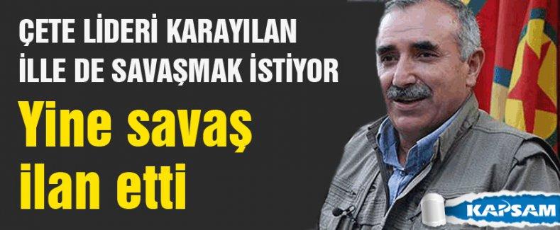 Karayılan: Öcalan'ın emrini bekliyoruz