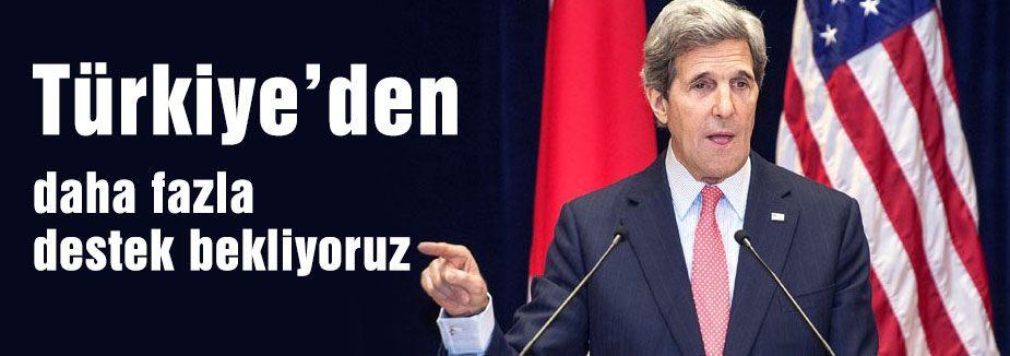 Kerry: Daha fazla destek bekliyoruz