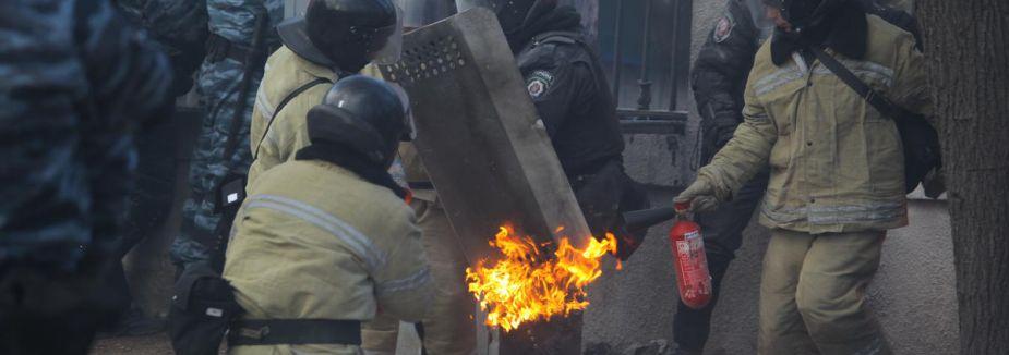 Kiev'de çatışma...