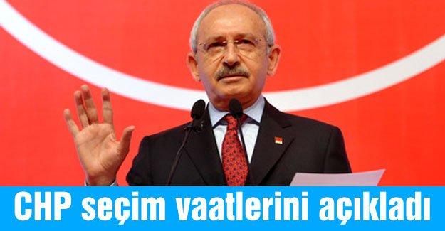 Kılıçdaroğlu, seçim vaatlerini açıkladı