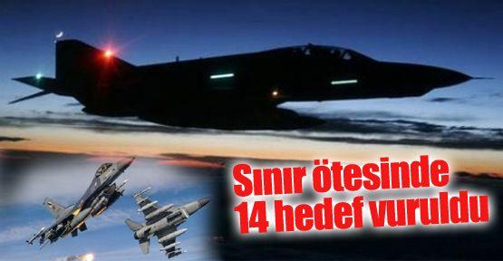 K.Irak'a operasyon, 14 Hedef Vuruldu