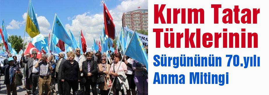 Kırım Tatar Türklerinden anma mitingi