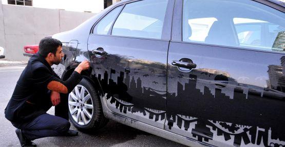 Kirli araçları tabloya dönüştürüyor
