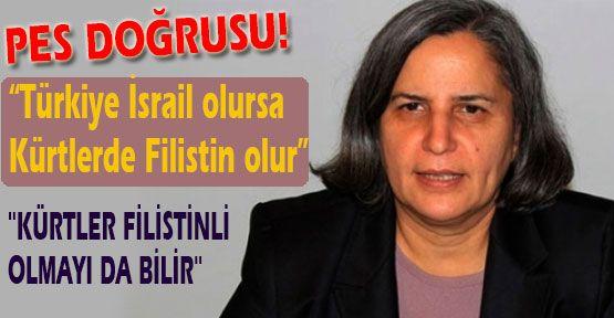 Kışanak;Türkiye İsrail olursa Kürtlerde Filistin olur