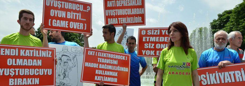 Kızılay'da uyuşturucu karşıtı eylem