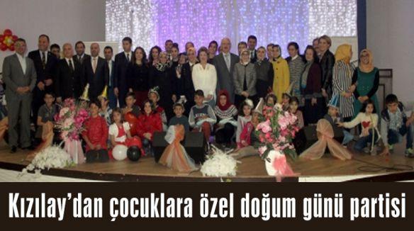 Kızılay'dan çocuklara özel doğum günü partisi