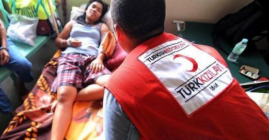 Kızılay'dan Filipinler'deki hastaneler için çalışma...