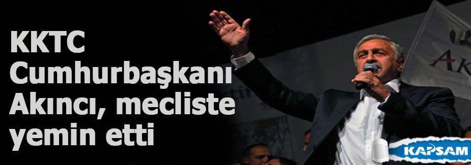 KKTC Cumhurbaşkanı Akıncı, mecliste yemin etti