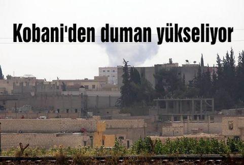 Kobani'den duman yükseliyor
