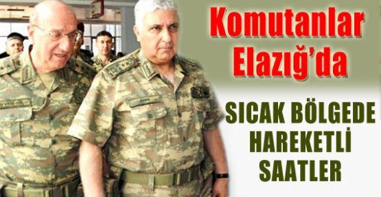 Komutanlar Elazığ'da