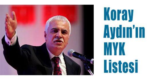Koray Aydın'ın MYK Listesi
