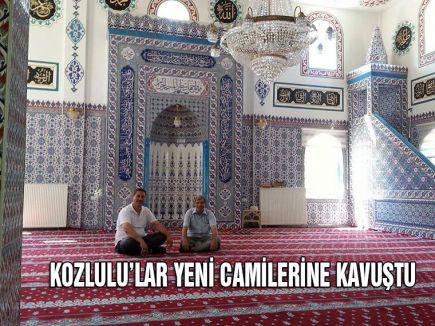 KOZLULU'LAR YENİ CAMİLERİNE KAVUŞTU