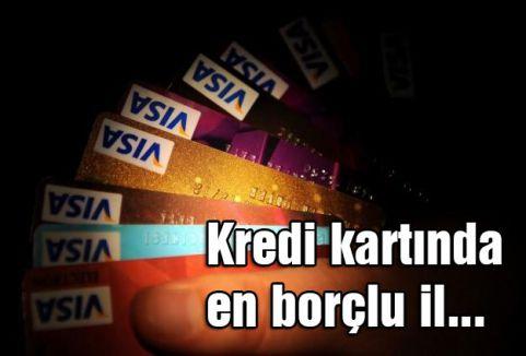 Kredi kartında en borçlu il