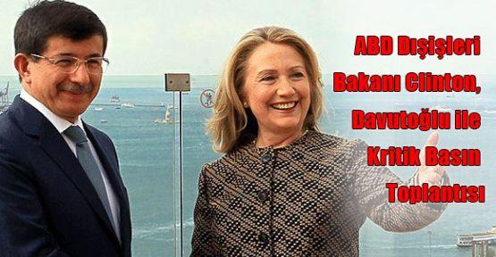 Kritik Clinton, Davutoğlu Toplantısı