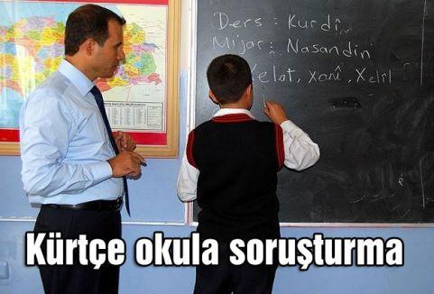 Kürtçe okula soruşturma