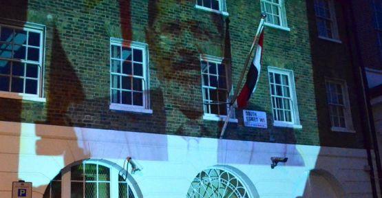 Londra'da Mısır protestosu