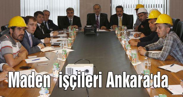 Maden  işçileri Ankara'da