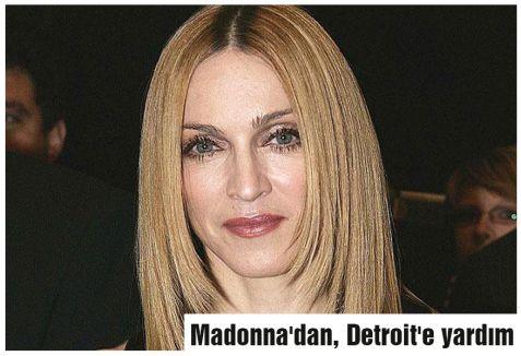 Madonna'dan, Detroit'e yardım