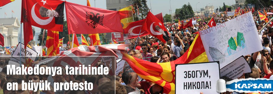 Makedonya tarihinde en büyük protesto