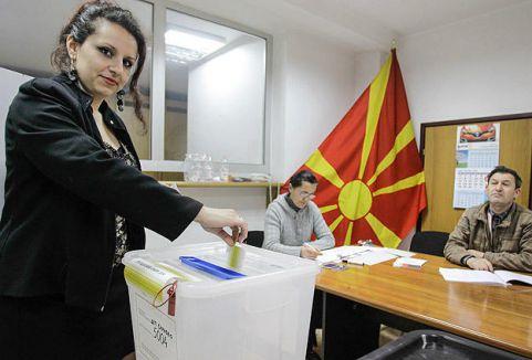 Makedonya'da  seçimler başladı...
