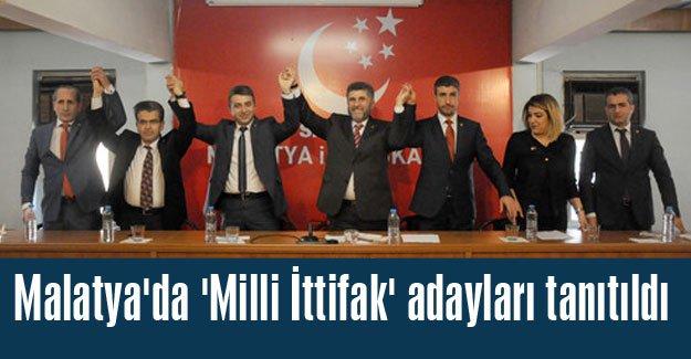 Malatya'da İttifak adayları tanıtıldı