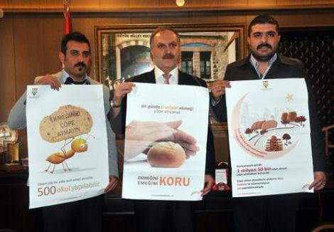 Manisa'da ekmek israfını önlemek için çalışma başlatıldı