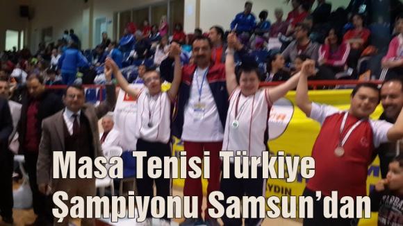 Masa Tenisi Türkiye Şampiyonu Samsun'dan