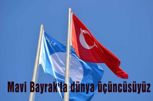 Mavi Bayrak'ta dünya üçüncüsüyüz