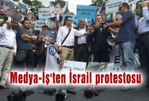 Medya-İş'ten İsrail protestosu
