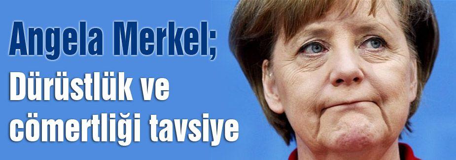 Merkel: Dürüstlük ve cömertlik, uzlaşmanın anahtarı