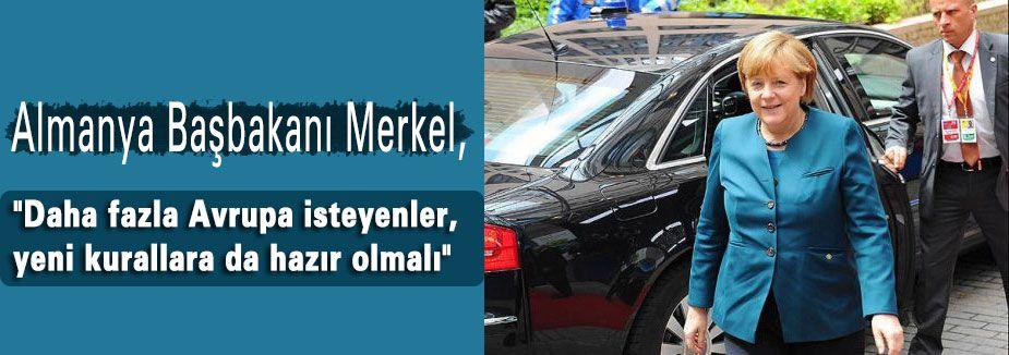Merkel'den AB'ye reform çağrısı...