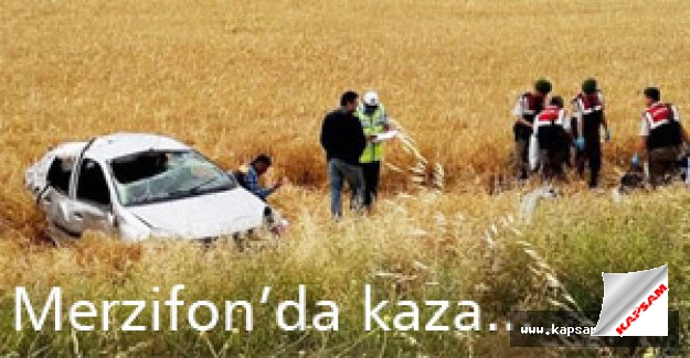 Merzifonda trafik kazası...