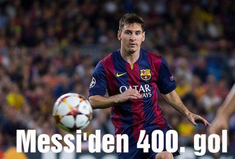 Messi'den 400. gol