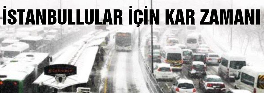 Meteorolojiden İstanbullular için kar saati