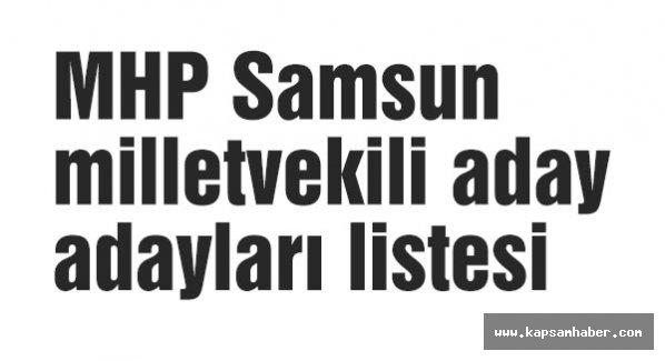 MHP 1 Kasım seçimleri kesin olmayan Aday Adayları Listesi