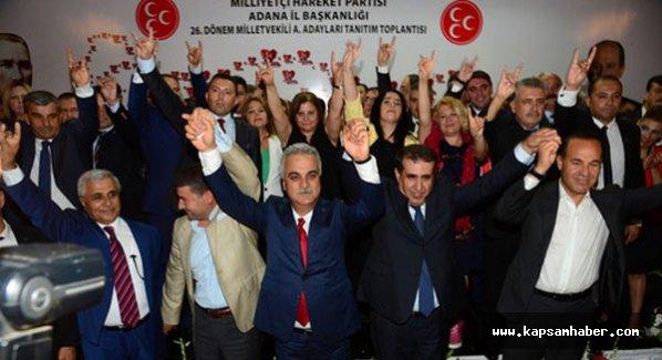 MHP Adana'da aday adaylarını tanıttı