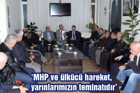 MHP Aday Adayı Mustafa Keskin Bafra'da Partililerle Buluştu