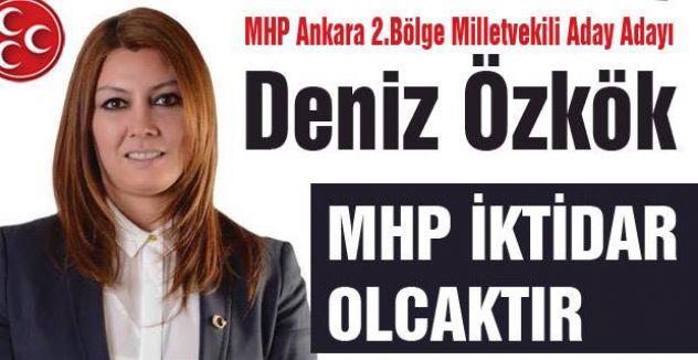 MHP Aday Adayı Özkök hızlı girdi...