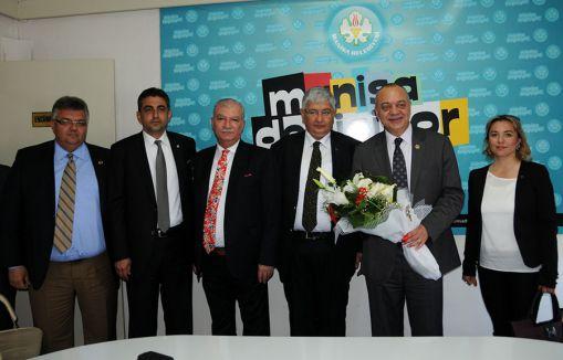 MHP Akhisar Teşkilatından Başkan Ergün'e Ziyaret