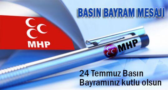 MHP Basın Bayramını Kutladı
