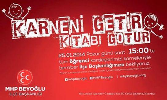 MHP Beyoğlu'ndan karne kampanyası