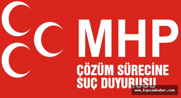 MHP, 'Çözüm süreci'yle ilgili suç duyurusunda bulunacak