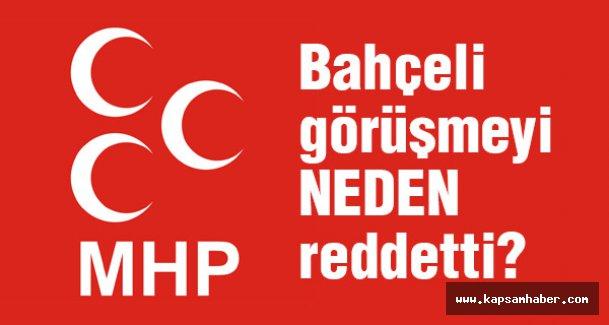 MHP, Davutoğlu'nun görüşme talebini neden geri çevirdi?