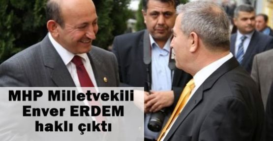 MHP Elazığ Milletvekili Haklı Çıktı