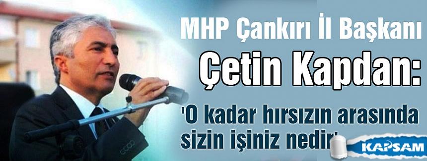 MHP'li Kapdan'dan AKP'li Filiz'e: Hırsızların içerisinde ne işin var?