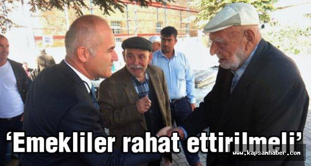 MHP'li Türk: Emeklilerimiz Rahat Ettirilmeli