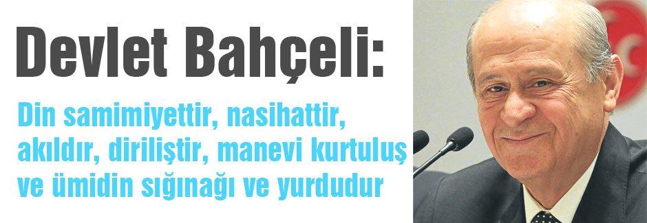 MHP Lideri Devlet Bahçeli'den Mesaj