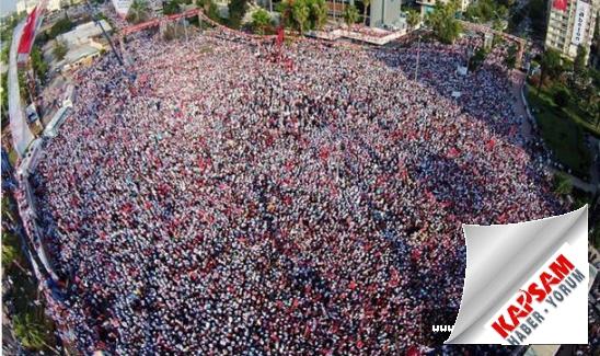 MHP Mitinginde Adana'da Mahşeri Kalabalık